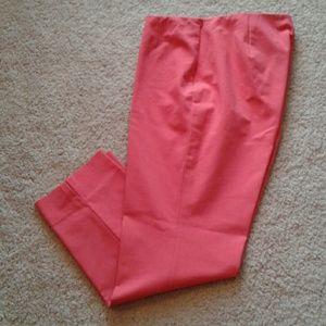 EUC Lafayette 148 Hot Pink Stanton Crop Pant
